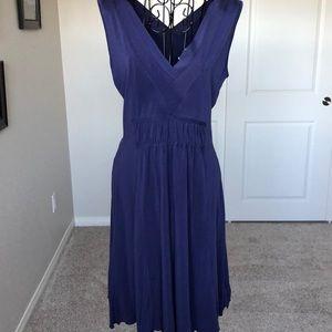 Athleta Navy Blue Cotton Dress